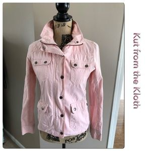 Pretty Kut From the Kloth Pink Jean Jacket